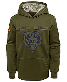 Nike Chicago Bears Salute To Service Therma Hoodie, Big Boys (8-20)