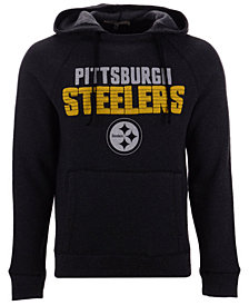Authentic NFL Apparel Men's Pittsburgh Steelers Out & Up Hooded Sweatshirt