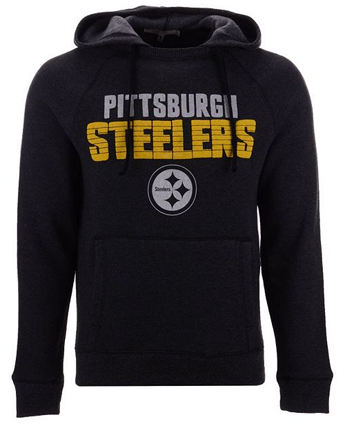 ... Authentic NFL Apparel Men s Pittsburgh Steelers Out   Up Hooded  Sweatshirt ... ebbc25185