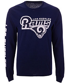 Authentic NFL Apparel Men's Los Angeles Rams Streak Route Long Sleeve T-Shirt