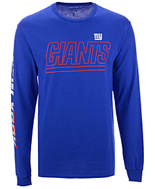 Authentic NFL Apparel Men's New York Giants Streak Route Long Sleeve T-Shirt