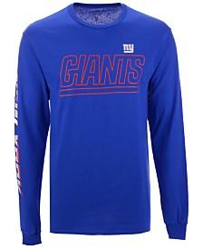 Authentic NFL Apparel Men's New York Giants Streak Route Long Sleeve T-Shirt