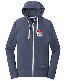 New Era St. Louis Cardinals Triblend Fleece Full-Zip Sweatshirt