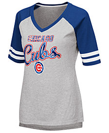 G-III Sports Women's Chicago Cubs Goal Line Raglan T-Shirt