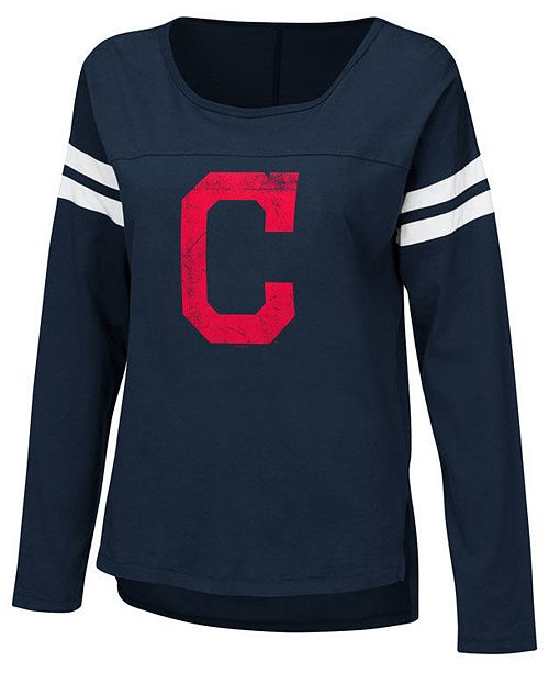 ... Touch by Alyssa Milano Women s Cleveland Indians Free Agent Long Sleeve  T-Shirt ... d004fd06ee