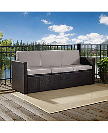 Palm Harbor Outdoor Wicker Sofa With Cushions