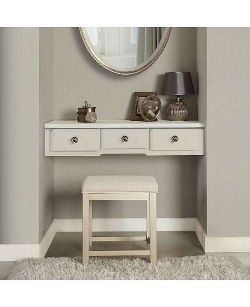 Superb Vista Vanity Stool With Vinyl Alphanode Cool Chair Designs And Ideas Alphanodeonline