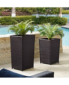 Palm Harbor Planter Set - 1 Small, 1 Medium