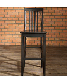 "School House Bar Stool With 30"" Seat Height (Set Of 2)"