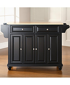 Cambridge Natural Wood Top Kitchen Island