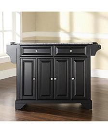 Lafayette Solid Granite Top Kitchen Island