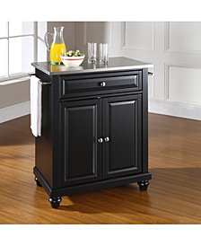 Cambridge Stainless Steel Top Portable Kitchen Island
