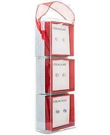 Giani Bernini 3-Pc. Set Cubic Zirconia Stud Earrings in Sterling Silver, Created for Macy's