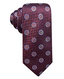 Tasso Elba Men's Blooming Flower Medallion Silk Tie, Created for Macy's