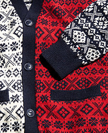 Tommy Hilfiger Men's Martin Mixed Fair Isle Cardigan, Created for Macy's