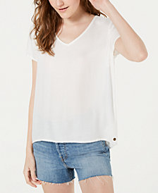 Roxy Juniors' Open Lace-Back Top