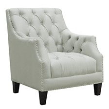 Perry Button Tufted Accent Chair