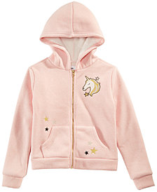 Epic Threads Big Girls Fur-Lined Unicorn Hoodie, Created for Macy's