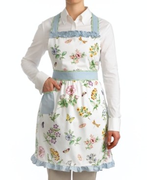 1950s House Dresses and Aprons History Lenox Butterfly Meadow Apron $24.99 AT vintagedancer.com