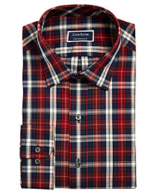 Club Room Men's Slim-Fit Stretch Trad Tartan Dress Shirt, Created For Macy's