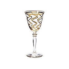 Vietri Elegante Swirl Wine Glass