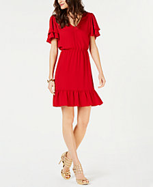MICHAEL Michael Kors Embellished Ruffle Dress