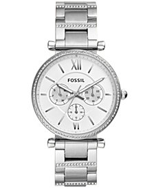 Fossil Women's Carlie Stainless Steel Bracelet Watch 38mm