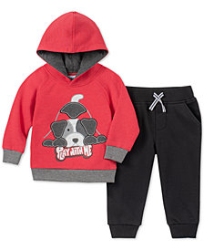 Kids Headquarters Baby Boys 2-Pc. Dog Hoodie & Jogger Pants Set