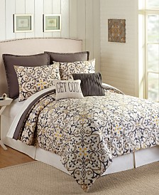Presidio Square Madrid Queen Comforter Set - 7 Piece