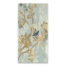 Blue Bird Embellished Canvas