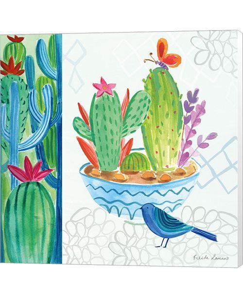 Metaverse Cacti Garden II By Farida Zaman Canvas Art