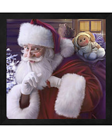 Shhh Santas Doll And By Dbk-Art Licensing Framed Art