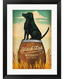 Black Lab Whiskey By Ryan Fowler Framed Art