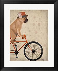 French Bulldog On Bi By Fab Funky Framed Art