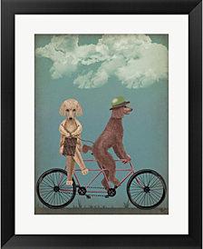 Poodle Tandem By Fab Funky Framed Art