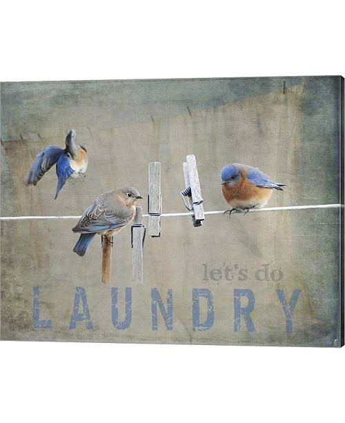 Metaverse Laundry Day Bluebird By Jai Johnson Canvas Art