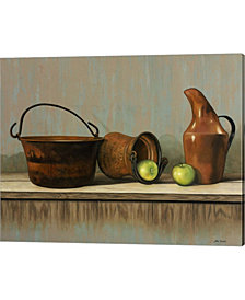 Rustic Cooking Pots by John Zaccheo Canvas Art