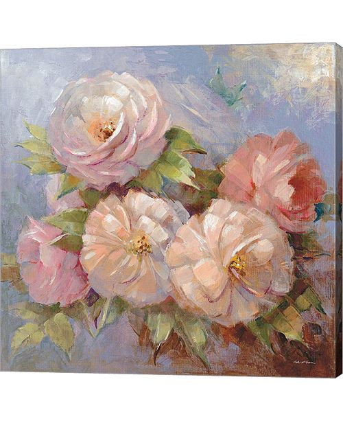 Metaverse Roses On Blue III Cr By Peter Mcgowan Canvas Art