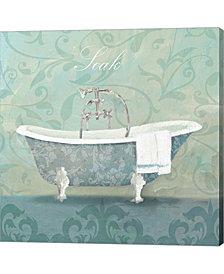 Damask Bath Tub by Avery Tillmon Canvas Art