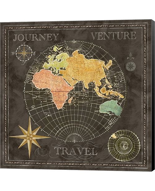 Metaverse Old World Black II By Cynthia Coulter Canvas Art