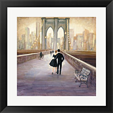 Bridge To Ny By Julia Purinton Framed Art