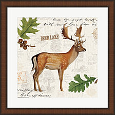 Lodge Collage VII by Katie Pertiet Framed Art