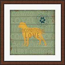 Unconditional Love Dog by Jennifer Pugh Framed Art