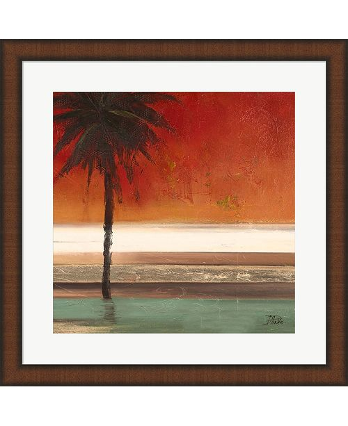 Metaverse Red Coastal Palms Square Ii By Patricia Pinto Framed Art