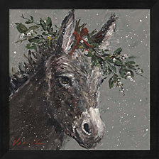 Mary Beth The Christmas Donkey By Mary Miller Veazie Framed Art
