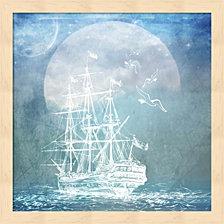 Sailor Away Ship 2 By Lightboxjournal Framed Art