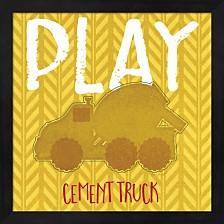 Cement Truck Cement By Jennifer Pugh Framed Art