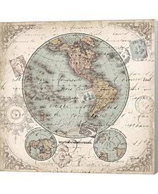 World Hemispheres II by Tre Sorelle Studios Canvas Art