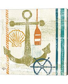 Nautical Brights I By Rebecca Lyon Canvas Art
