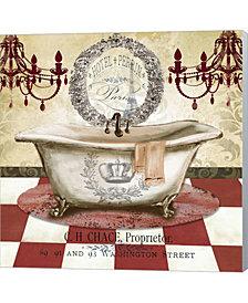 Red French Bath I By Tre Sorelle Studios Canvas Art